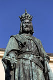 Bronze Statue of the eleventh King of Czech and Roman Emperor Charles IV. in Prague, , Czech Republic Royalty Free Stock Photos