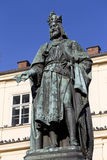 Bronze Statue of the eleventh King of Czech and Roman Emperor Charles IV. in Prague, , Czech Republic Stock Photos