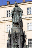 Bronze Statue of the eleventh King of Czech and Roman Emperor Charles IV. in Prague, , Czech Republic Royalty Free Stock Photography