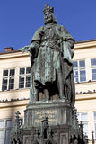 Bronze Statue of the eleventh King of Czech and Roman Emperor Charles IV. in Prague, , Czech Republic Stock Images