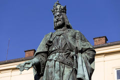 Bronze Statue of the eleventh King of Czech and Roman Emperor Charles IV. in Prague, , Czech Republic Royalty Free Stock Image