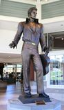 Elvis Presley Bronze Statue. Bronze Statue of Elvis Presley, the King of Rock and Roll Stock Images