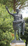 bronze statue of the emperor Caesar Augustus Royalty Free Stock Image