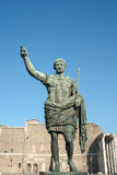 Bronze statue of emperor Caesar Augustus. On Via dei Fori Imperiali, Rome, Italy Royalty Free Stock Image