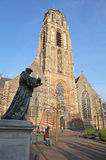 Bronze statue of Erasmus on the square in Rotterdam, Netherladns Stock Images