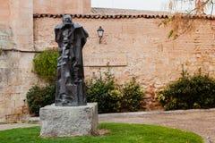 Bronze statue erected in Salamanca in memory of Miguel de Unamun Stock Photo