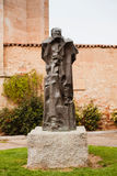 Bronze statue erected in Salamanca in memory of Miguel de Unamun Stock Image