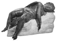 Bronze statue of Eros sleeping Stock Photos