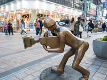 The bronze statue of filmmaker at BIFF square. In Busan, South Korea Stock Photos