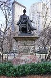 A bronze statue of former Secretary of State William Seward in New York City stock photos