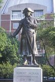 Bronze statue of Founding Father and Revolution Financier Robert Morris in historic district of Philadelphia Pennsylvania Stock Photo