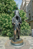 Bronze statue of Franz Kafka - Prague. Bronze statue of Franz Kafka, Czech writer considered one of the greatest literary figures of the twentieth century stock image