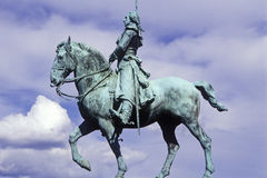 Bronze statue of General George Washington on horseback Stock Photos