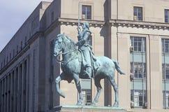 Bronze statue of General George Washington on horseback Stock Photo