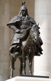 Bronze statue of Genghis Khan's warriors Stock Photography