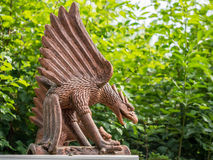 Bronze statue of giant bird Royalty Free Stock Image