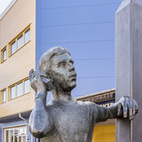 Bronze statue of Goran Karlsson, the founder of GeKas emporium i. N 1963, Scandinavia´s biggest mall, Ullared, Sweden, September 3, 2017 Stock Photos