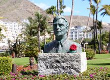 Bronze statue in Gran Canaria, Spain Royalty Free Stock Images