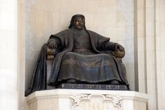 Bronze statue of the great emperor - Genghis Khan Royalty Free Stock Photo