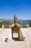 Bronze statue. Guardia Perticara. Basilicata. Italy. Stock Image