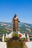 Bronze statue. Guardia Perticara. Basilicata. Italy. Stock Photos