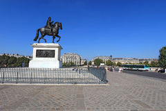 Bronze statue of Henry IV on Pont Neuf in Paris, France Royalty Free Stock Photo