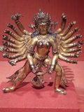 Bronze statue. Hindu Buddha Buddhist Royalty Free Stock Photos