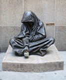 The bronze statue of the Homeless Jesus Royalty Free Stock Photography