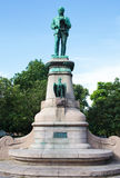 Bronze statue of inventor John Ericsson in Gothenburg, Sweden Royalty Free Stock Photo