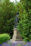Bronze Statue of King Emperor Karl IV in tangermuende. Royalty Free Stock Image