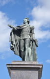Bronze statue of the king Gustaf 3. Royalty Free Stock Photo