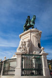 Bronze statue of King Jose I from 1775 on the Commerce Square Stock Photos