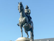 Bronze statue of King Philip III at the center of Plaza Mayor, M Royalty Free Stock Images