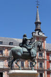 Bronze statue of King Philip III in Plaza Mayor. Madrid, Spain Stock Photo