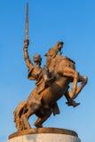 Bronze statue of King Svatopluk, Bratislava, Slovakia Stock Photo