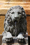 Bronze statue of a lion, from a fountain in segovia Royalty Free Stock Image