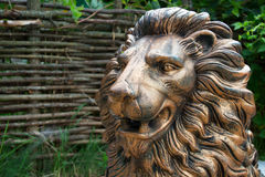 Bronze statue of a lion Stock Photo
