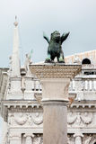 Bronze statue of the Lion of St Mark Royalty Free Stock Image