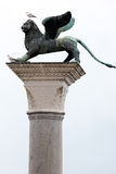 Bronze statue of the Lion of St Mark Stock Images