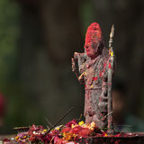 Bronze statue of Lord Shiva, in an hindu temple, Nepal Royalty Free Stock Image