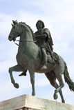 Bronze statue of Louis XIV Stock Image