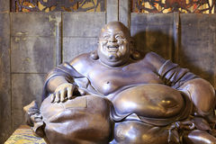 Bronze statue of maitreya. The bronze statue of maitreya, chinese style Royalty Free Stock Image