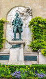 Bronze Statue of Major Davel in Chateau Saint-Maire in Lausanne, Switzerland, Europe Stock Photo