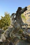 Bronze statue in Marbella Stock Photo