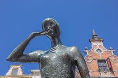 Bronze statue of Mariken van Nieumeghen in Nijmegen Stock Image