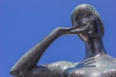 Bronze statue of Mariken van Nieumeghen in Nijmegen Royalty Free Stock Images