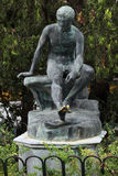 Bronze statue of Mercury at Achilleion, Corfu Stock Image
