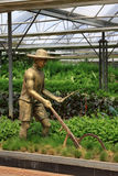 Bronze statue in modern agriculture farming sculpture exhibition Stock Photo