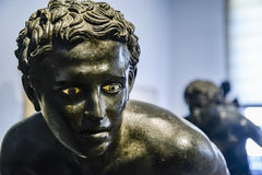 Bronze statue in Naples National Archaeological Museum royalty free stock image