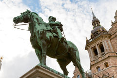 Bronze statue near Nordic Museum, Stockholm Royalty Free Stock Image